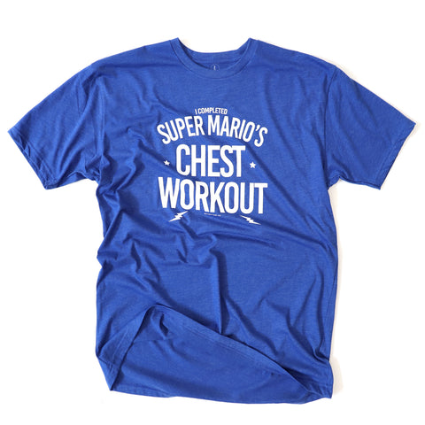 Super Mario's Chest Workout<br> [Tee]<br> PRE-ORDER! (ships 3/29-4/5)
