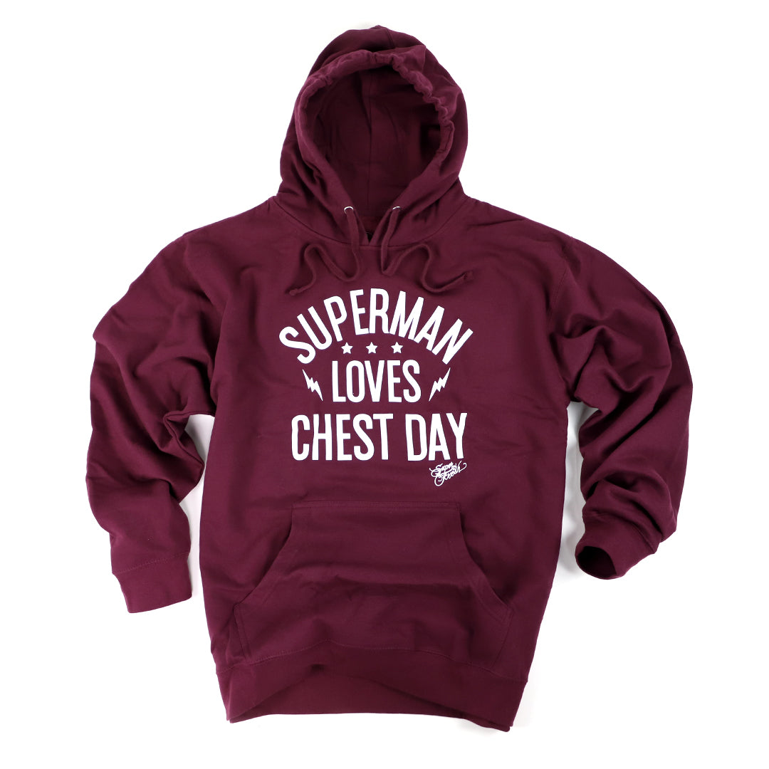 Superman Loves Chest Day<br> [Hoody]