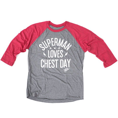 Superman Loves Chest Day<br> [3/4 Sleeve]