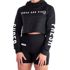 Tough And Girly<br> [Women's Crop Hoody]<br> (Charcoal)
