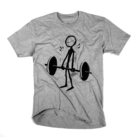 Deadlift (Stick)<br> [tee]<br> (heather grey)
