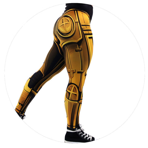 Robo Leggings (Liquid Gold)