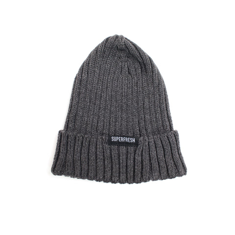 Ribbed Beanie<br>(charcoal grey)