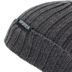 Ribbed Beanie<br> (Charcoal Grey)
