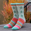 Remixed Crew Socks<br>(guava pink)