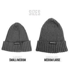Ribbed Beanie<br> (Slate Grey)