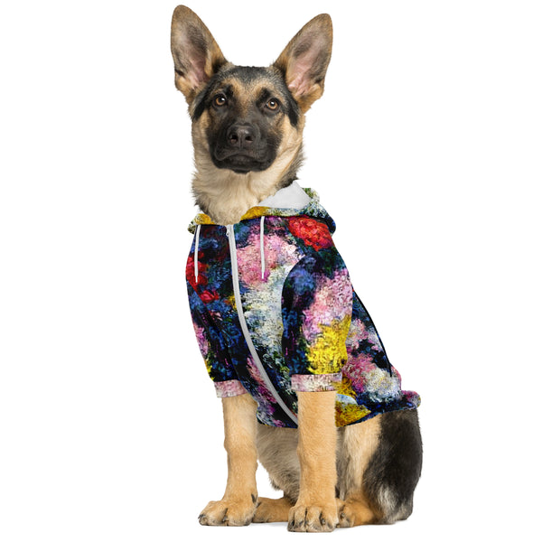 Monet's Carnations Dog Hoodie