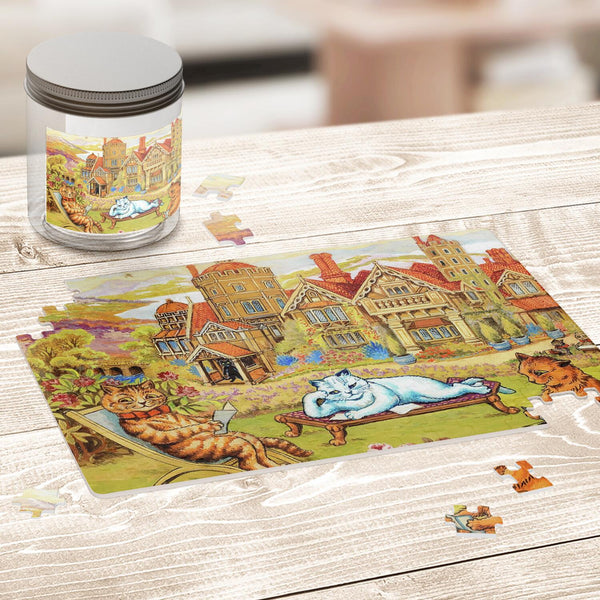 Cats Relaxing in the Grounds at Napsbury Jigsaw Puzzle