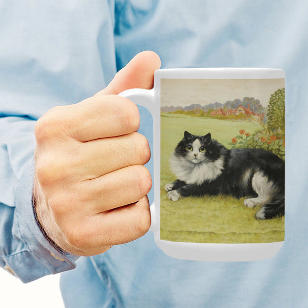 Blissful Feline 15 Oz Ceramic Mug Ceramic Mug (Made In USA)