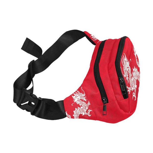 Asian Dragon Unisex Waist Bag With Front Pocket