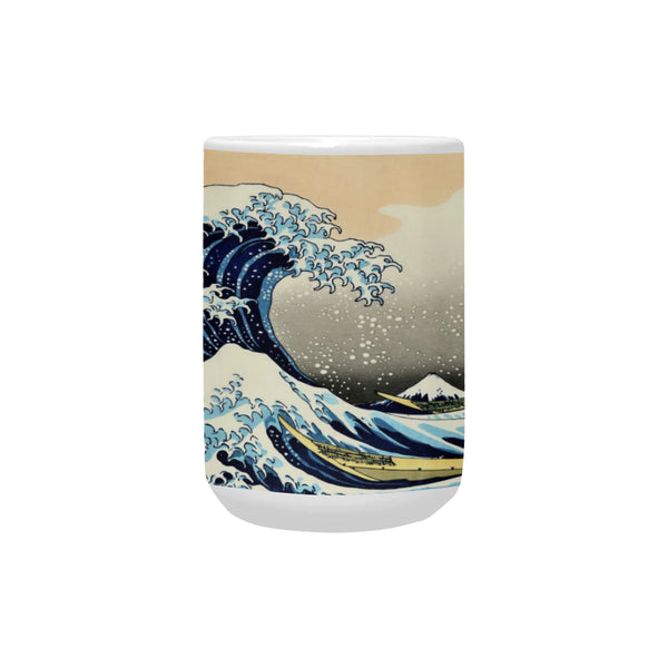 Great Wave off Kanagawa 15 Oz Ceramic Mug Ceramic Mug (Made In USA)