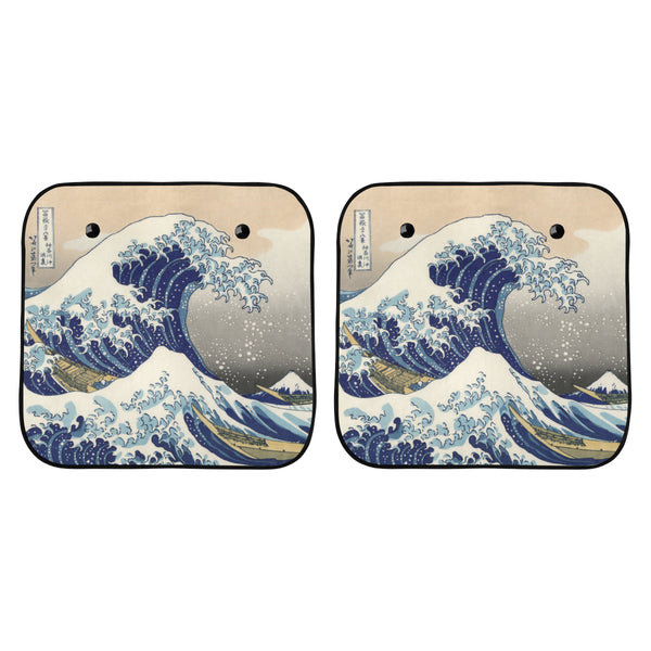 The Great Wave off Kanagawa Car Sun Shade (Two Pieces)