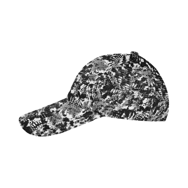 Black And White Snake Camo Dad Hat