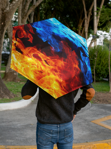 Fire and Ice Automatic Umbrella