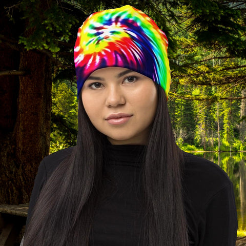 Tie Dye All-Over Print Beanie