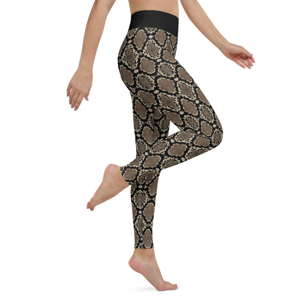 Women's Snakeskin Yoga Leggings