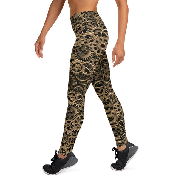 Steampunk Gears Yoga Leggings