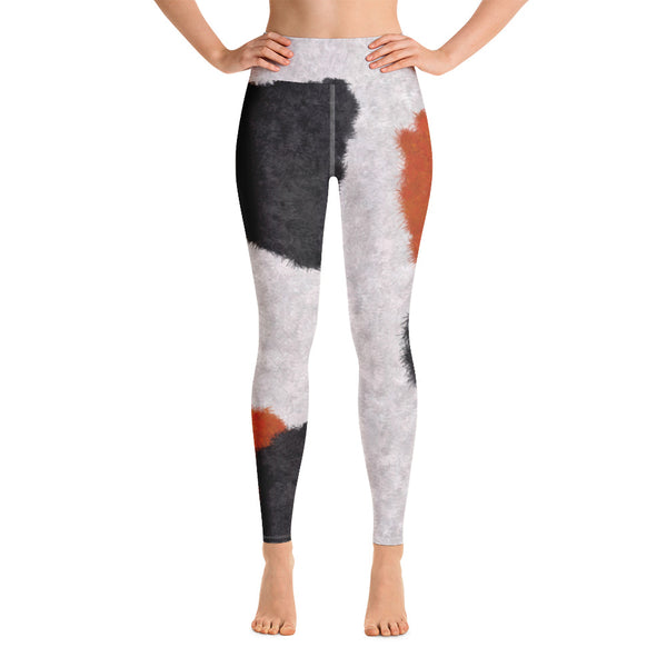 Calico Cat Fur Print Yoga Leggings