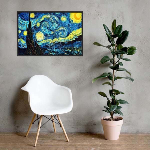 Starry Night Framed Matte Paper Poster