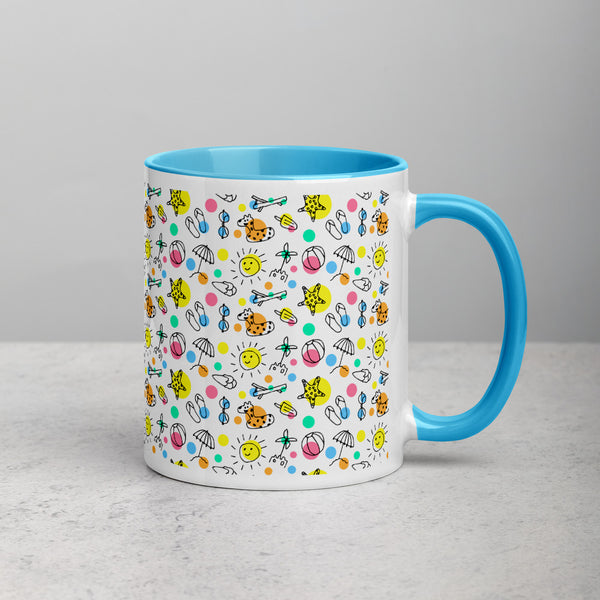 Fun in the Sun Mug with Color Inside