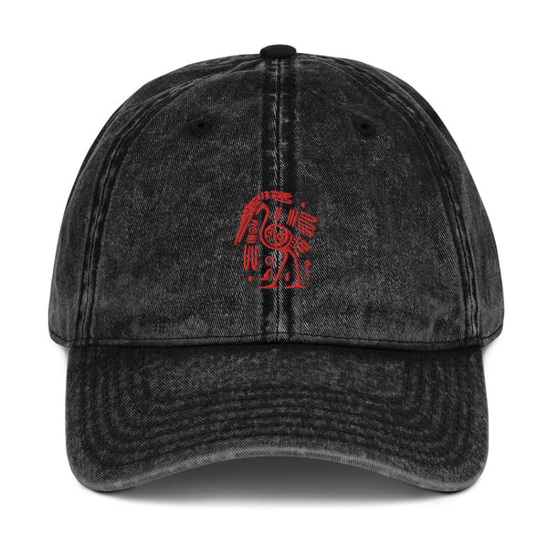 Tribal Ibis Embroidered Cotton Twill Cap