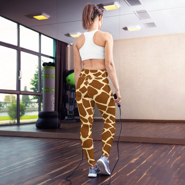 Giraffe Print Yoga Leggings