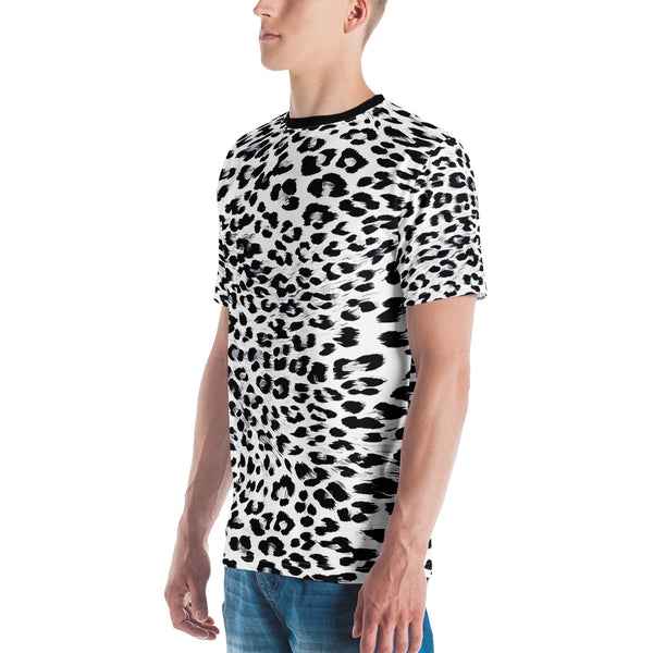 Snow Leopard Print Men's T-shirt