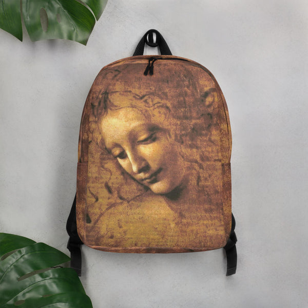 Lady of the Disheveled Hair by da Vinci Minimalist Backpack