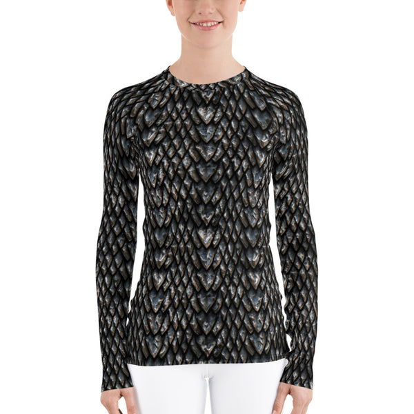 Women's Onyx Dragon Scale Rash Guard