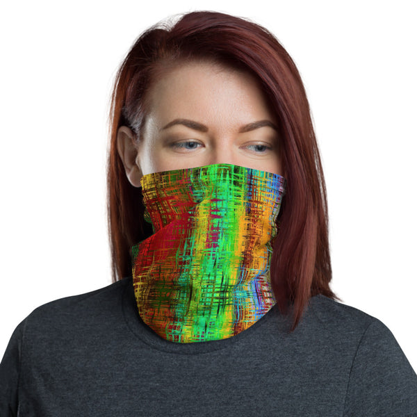 Colorful Crosshatch Neck Gaiter