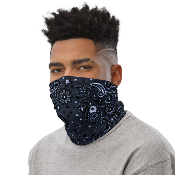 Blued Steel Bandanna Neck gaiter