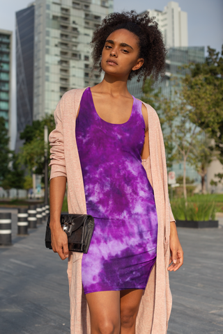 Purple Magic Sleeveless Dress