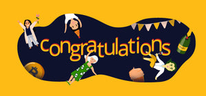 "Happy Bitcoin Gift Card ""Congratulations"" Design"