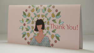 Artistic Thank You Card With Bitcoin Preloaded