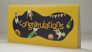 "Happy Bitcoin Gift Card ""Congratulations"""