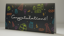 "Load image into Gallery viewer, Bitcoin Gift Card ""Congratulations"" Standing"