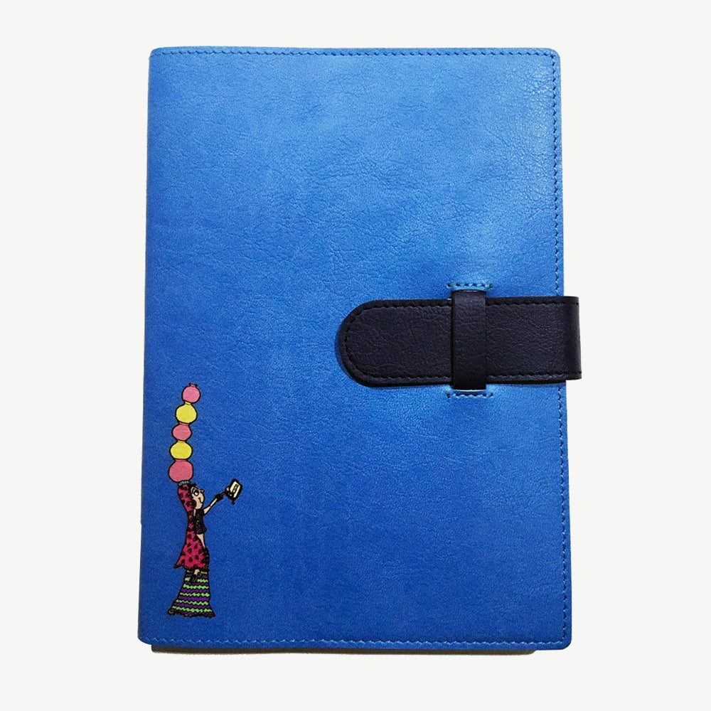 Classy Swag Lady Notebook - Blue