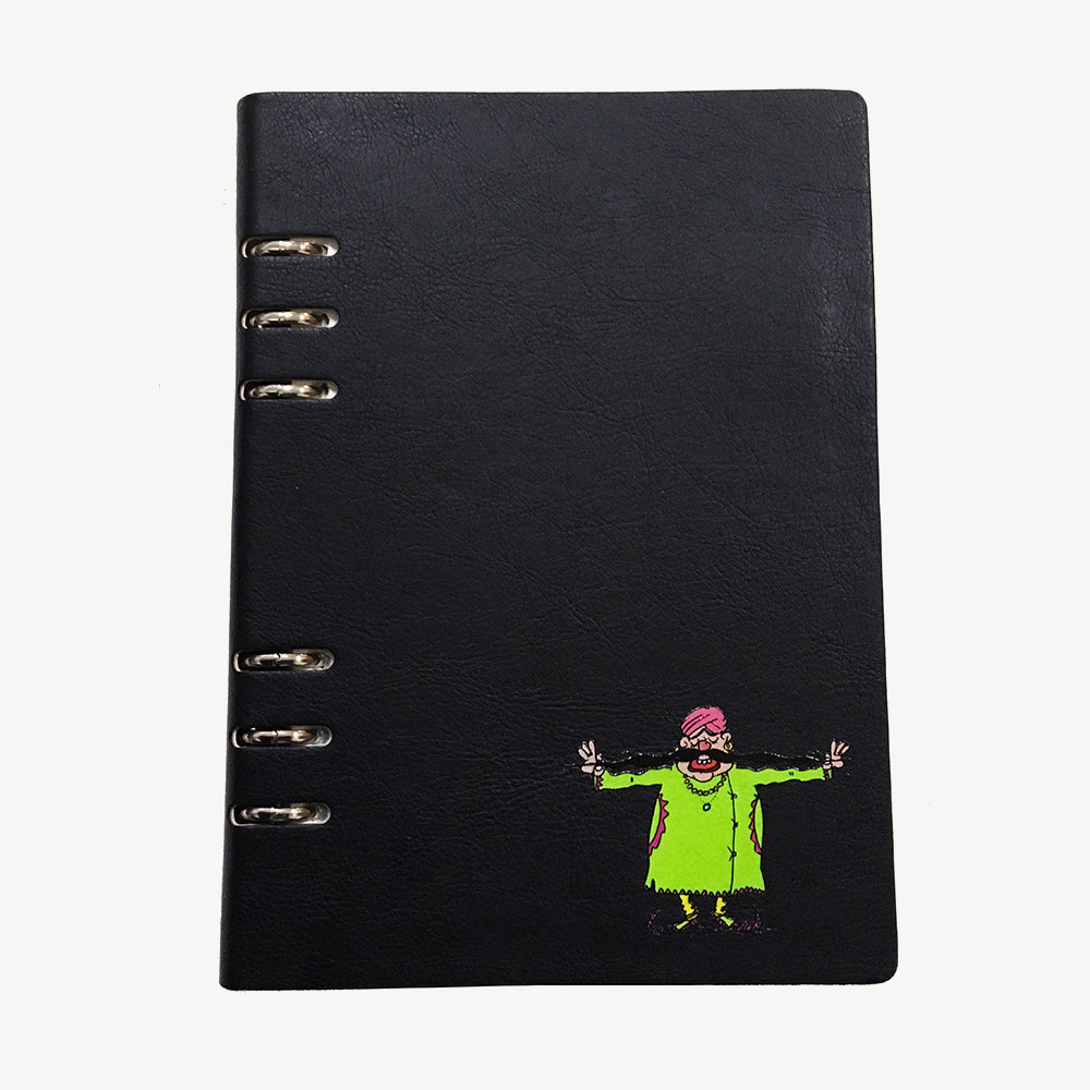 Spiral Flaunt Moochwala Notebook - Black