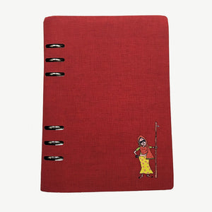 Spiral Flaunt Swag Lady Notebook - Maroon