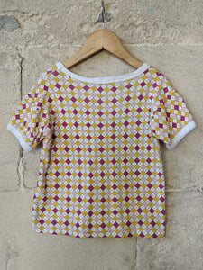 Geometric Vintage Children's preloved Clothes Girl's Cool T-shirt 4-5 Years