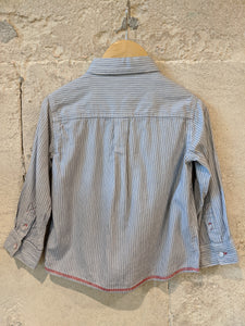 French Classic Striped Baby Boys Shirt Preloved Style 12-18 Months