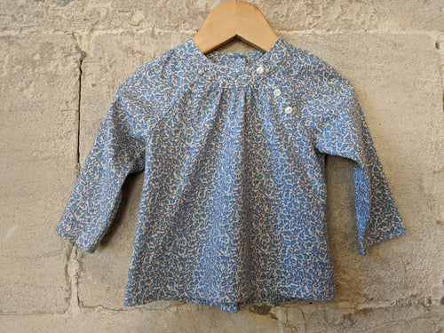 Beautiful Grain de Blé French Floral Preloved Tunic 12 Months
