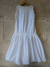 Load image into Gallery viewer, White Cotton Summer Dress Girls Preloved French Brands 8 Years