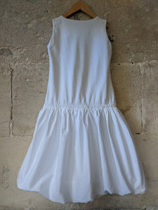 White Cotton Summer Dress Girls Preloved French Brands 8 Years