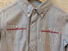 Load image into Gallery viewer, Preloved French Classic Striped Baby Boys Shirt 12-18 Months