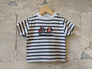 Weekend à la Mer Soft Stripe Tee Shirt - 6 Months
