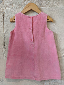 Secondhand Kids Clothes Pink Velvet DPAM Dress Flowers 1-2 Years