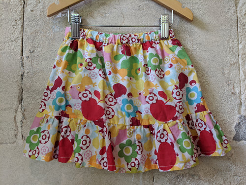 DPAM Bright Bird & Floral Preloved Girl's Skort 2 Years