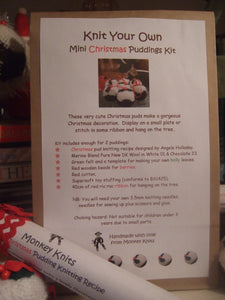 Christmas Pudding Knitting Kit for 3 Puds