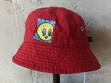 Load image into Gallery viewer, Vintage Tweety Bird Red Sun Hat Preloved